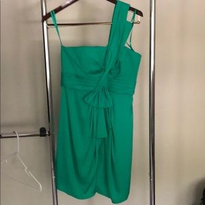 BCBG green cocktail dress gently used